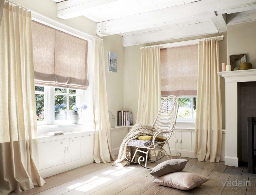 rolety rzymskie i dekoracja okien z tkanin Vadain